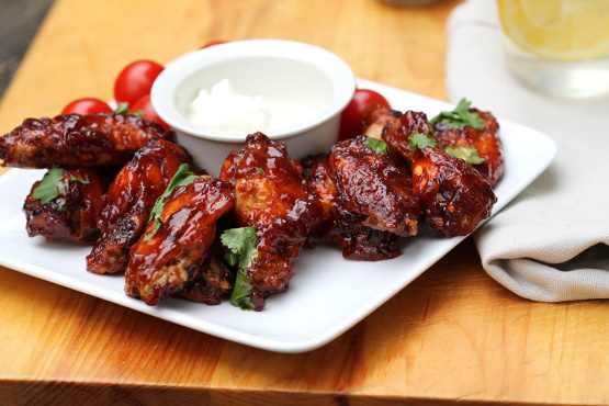 Easy baked barbecue chicken wings recipe