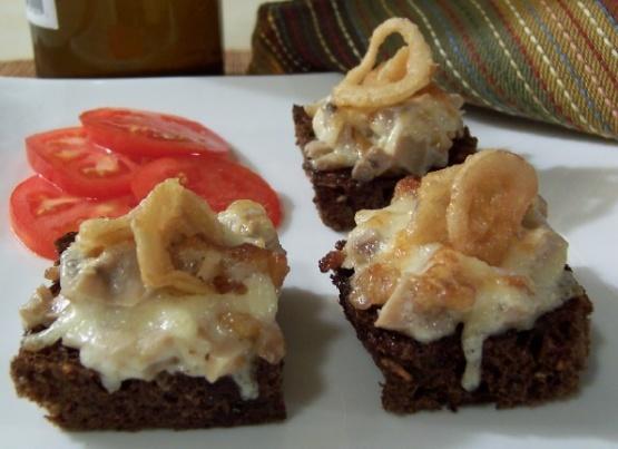 Mushroom canapes recipe genius kitchen for Canape kitchen
