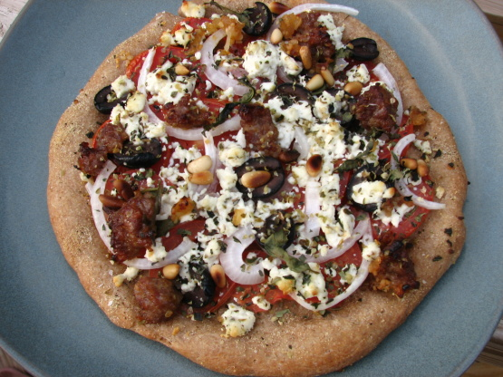 Goat Cheese Pizza goat cheese , tomato, and basil pizza recipe ...