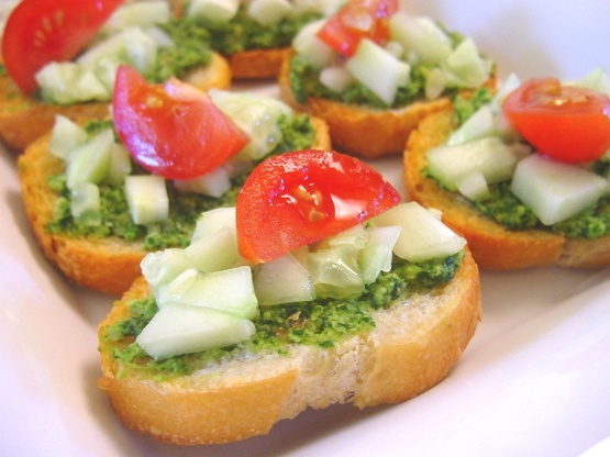 Cilantro canapes recipe genius kitchen for Summer canape ideas