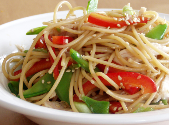 asian salad recipe spaghetti noodle