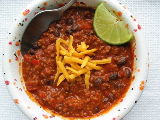 Beef Chili With Bacon And Black Beans RecipeFood.com