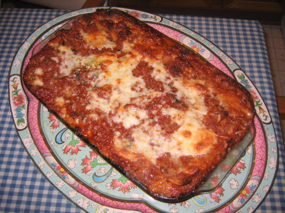 Three-Cheese Lasagna With Italian Sausage RecipeFood.com