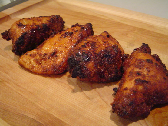 Spicy Honey Brushed Chicken Thighs Recipe — Dishmaps