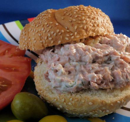 Dill tuna fish sandwich recipe genius kitchen for Tuna fish sandwich