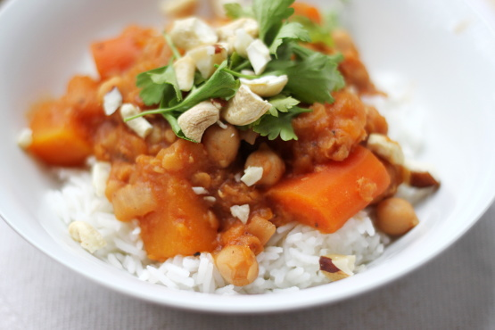 Image result for Squash, Chickpea and Red Lentil Stew