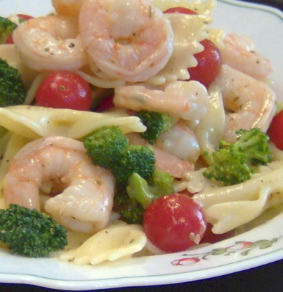 Lemon shrimp pasta salad recipe genius kitchen for Prawn and pasta salad recipes