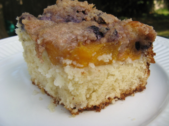 Blueberry Peach Coffee Cake Recipe - Breakfast.Food.com