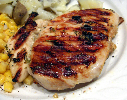 Broiling boneless chicken breast
