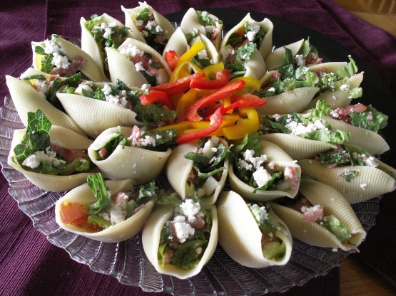 Chopped Salad Appetizer Shells Recipe