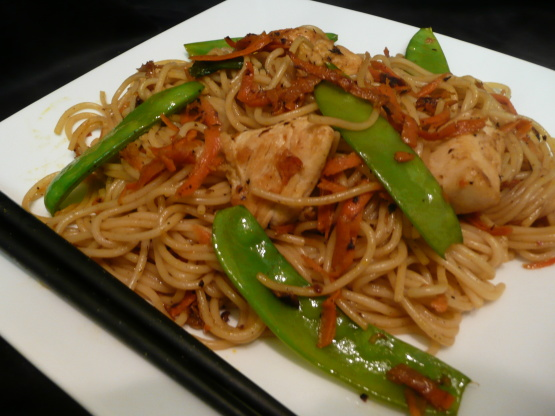 chinese noodles recipe with spaghetti and chicken