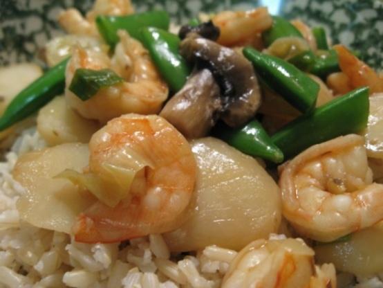 Shrimp With Snow Peas And Water Chestnuts Recipe - Genius ...