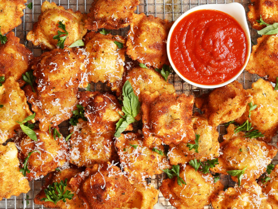 Tsr Version Of Olive Garden Toasted Ravioli By Todd Wilbur Recipe Genius Kitchen