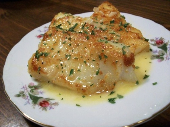 Pan fried fish with a rich lemon butter sauce recipe for Pan fried fish fillet recipes