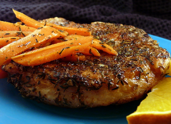 Pan Seared Pork Chops With Glazed Carrots Recipe