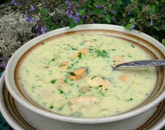 Creamy fish & mussel soup | BBC Good Food