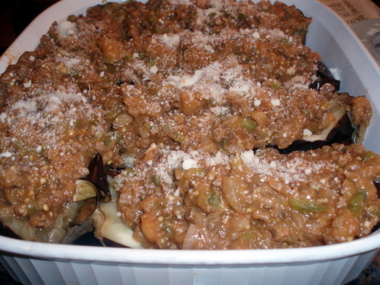 Beef Stuffed Eggplant South Beach