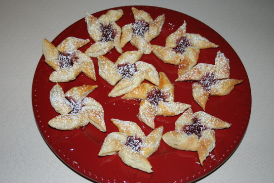 Puff Pastry Pinwheel Cookies With Jam Recipe Food Com