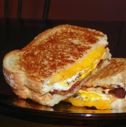 grilled breakfast sandwich recipe breakfastfoodcom