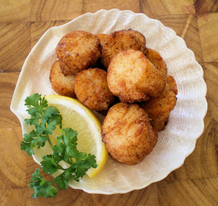 Fried Scallops For Fou...