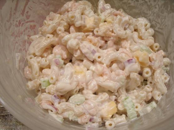 Shrimp macaroni salad recipe genius kitchen for Prawn and pasta salad recipes