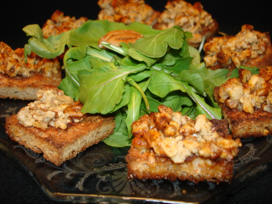 Gorgonzola canapes recipe cheese genius kitchen for Canape kitchen