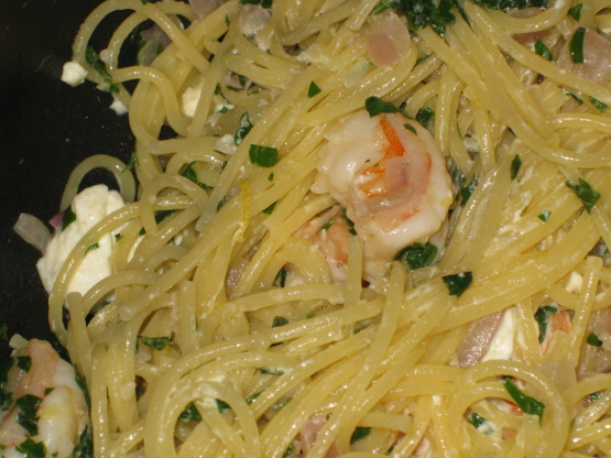 Garlic Shrimp, Lemon And Feta Spaghetti Recipe - Italian.Food.com