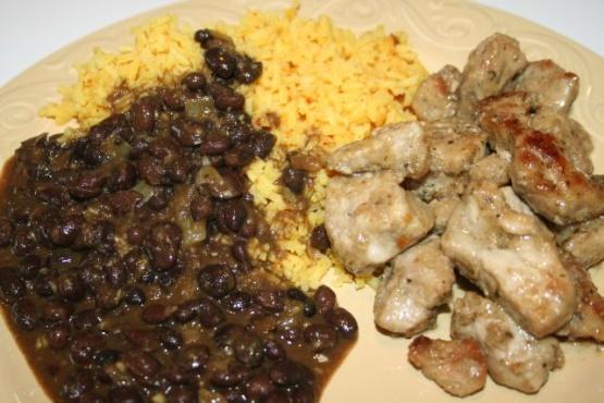 Spanish pork and beans recipe