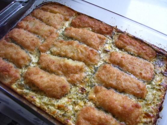 Kids fish stick casserole recipe genius kitchen for Fish casserole recipes