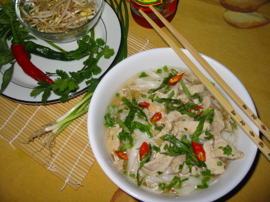 recipe for pho soup chicken
