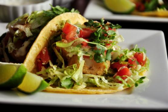 Easy fried shrimp taco recipe