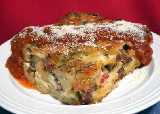 italian sausage cheese strata recipe recipe