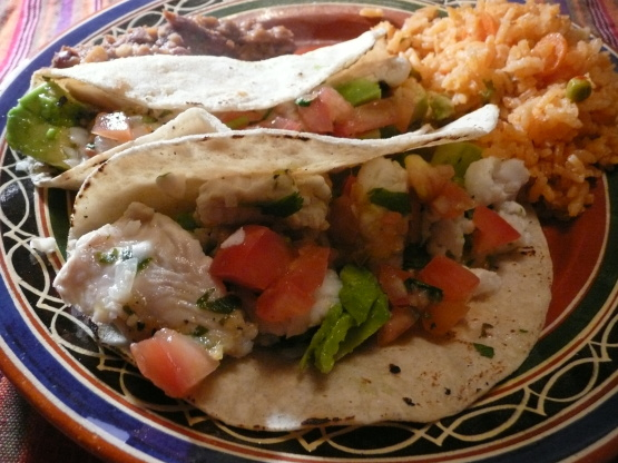 Grilled fish tacos recipe genius kitchen for Best grilled fish taco recipe
