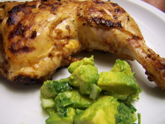 Chipotle Grilled Chicken With Avocado Salsa Recipe ...