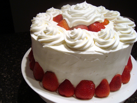 Cake With Whipped Cream Frosting Nutrition