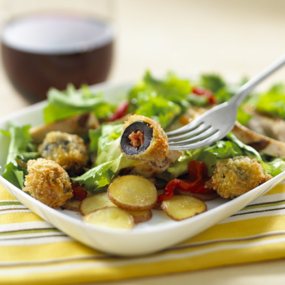 Grilled Chicken Salad With Chorizo-Stuffed Olives In ...