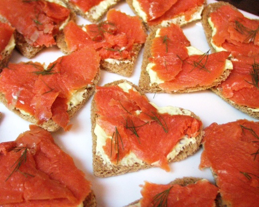 Smoked Salmon And Wasabi Tea Sandwiches Recipe - Genius ...