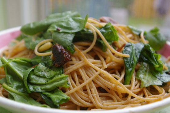 Lemon Linguine with Spinach & Prosciutto