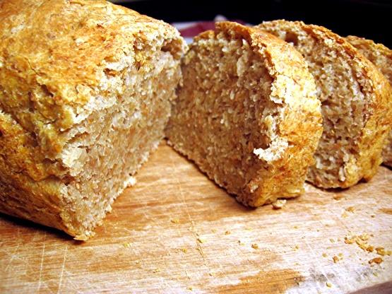 No-Knead Whole Wheat Sandwich Bread Recipe - Genius Kitchen