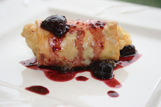 Savory chicken bundles with balsamic berry sauce recipe for 416 americana cuisine