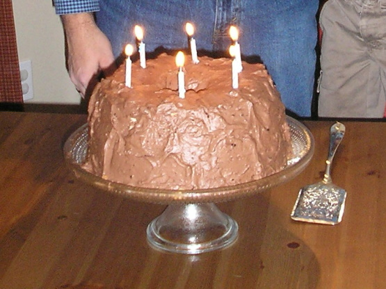 Angel Food Cake With YUMMY Chocolate Whipped Cream Icing ...