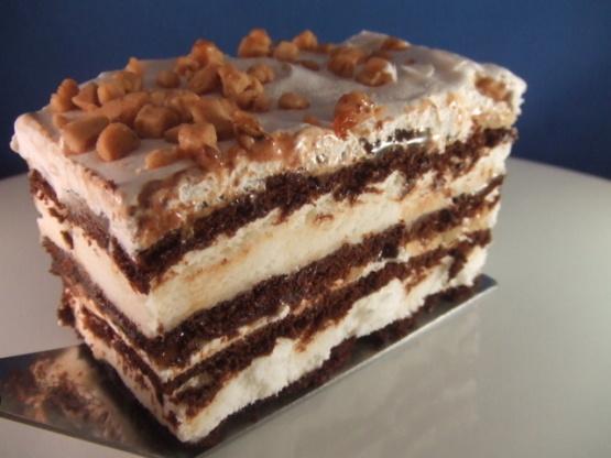 Kahlua Ice Cream Sandwich Cake