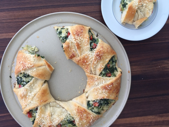 Spinach Egg With Egg Ring