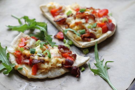 Breakfast Pita Pizza Recipe - Food.com