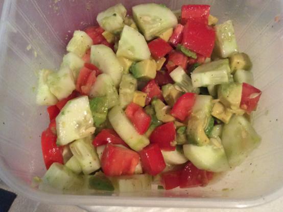 Cucumber Tomato Surprise Salad Raw Recipe) Recipe - Genius ...