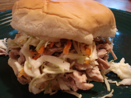North Carolina-Style Pulled Pork Sandwiches And Coleslaw Recipe