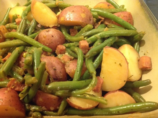 New potatoes with green beans country style recipe genius kitchen - New potatoes recipes treat ...