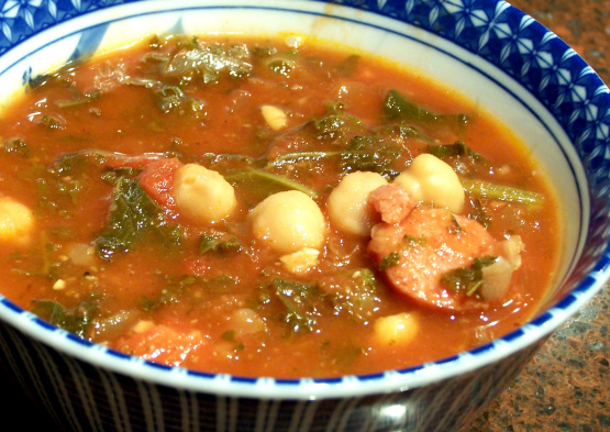 Calebs Sausage, Kale And Chickpea Soup Recipe - Food.com