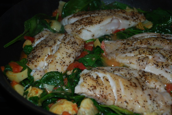 Sauteed Snapper With Plum Tomatoes And Spinach Recipe ...