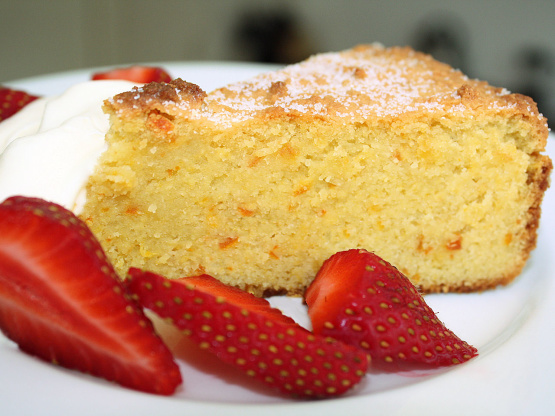 Flourless almond sponge cake recipe